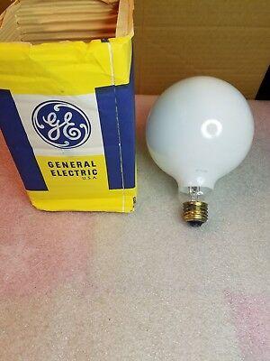 "General Electric 5"" 100w 120v White  Decorative Incandescent Light Bulb NOS"