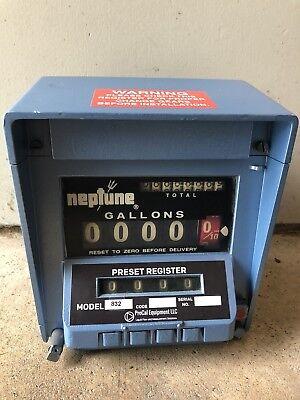 Neptune Meter Register Model 832 0 Warranty Fuel Oil Gas Diesel Jet Bio Water