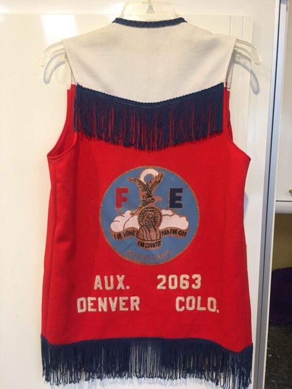"""FOE Fraternal Order of Eagles Vest Denver, Colorado """"Maxine"""" Vintage"""