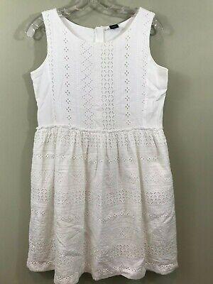 White Dress For Girl (Gap Kids Eyelet White Dress Girl sz XXL 14~ Resort Beach Portrait Wear~)