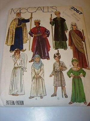 CHILDS UNCUT mccalls Pattern 5795 HALLOWEEN COSTUME king angel religious SIZE M - Religious Halloween Crafts