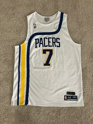 Reebok JERMAINE O'NEAL 1972-73 INDIANA PACERS Authentic NBA HWC JERSEY 48