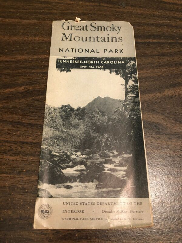 1956 Guidebook And Brochure Great Smoky Mountains National Park Tennessee- North