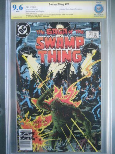 Swamp Thing #20 Newsstand CBCS 9.6 not CGC **Signed Tom Yeates & John Totleben**
