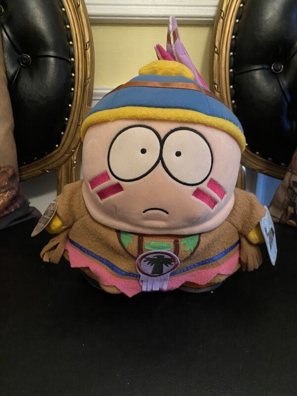 "Rare Limited Ed. 1998 South Park Indian Cartman Large 12"" Plush Toy With Tags"