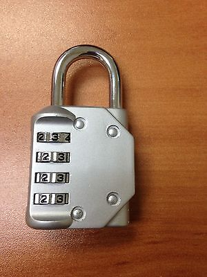 BEST SOLID Silver 4 Digit Combination Lock for gym locker luggage backyard gate (Best Combination Lock For Gym)
