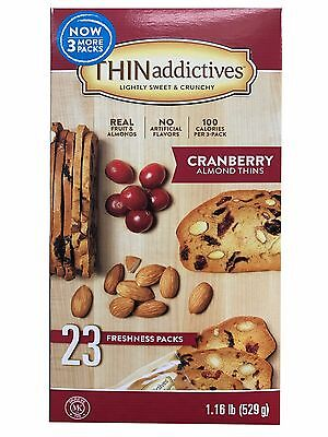 (Thin Addictives Lightly Sweet & Crunchy Cranberry Almond Thins 23 Packs 1.16 LB)