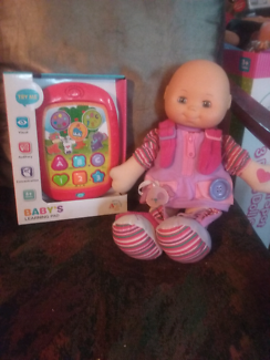 Brand new babys learning pad +baby doll vgc.