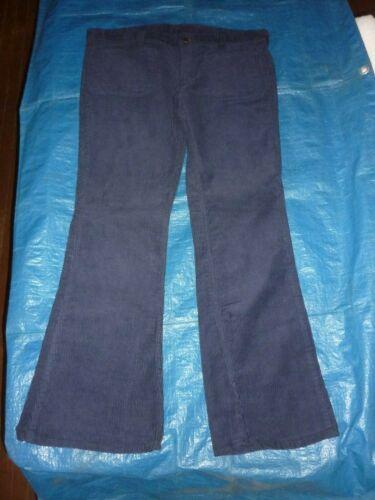 LEE  BLUE CORDUROY VINTAGE PANTS  36X30 USA BELL BOTTOM FLARED HIPPIE 70