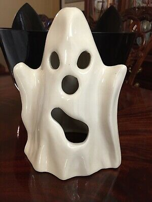Vintage Halloween Ceramic Ghost Decoration Candle Holder