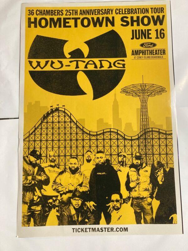 Wu Tang Clan Tour Poster 2019 Brooklyn Concert 24x36 RARE 36 chambers rza gza