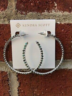 NWT Kendra Scott Birdie Hoop Earrings in African Turquoise