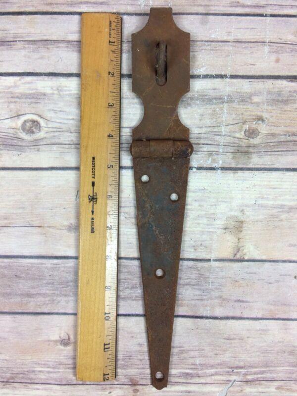 Vintage Antique Rustic Hinged Padlock Hasp Latch Lock Gate Door Chest Large