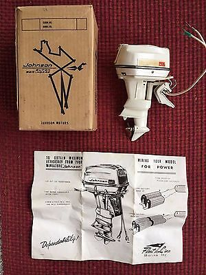1960 K & O Johnson 75HP Toy Boat Motor with Box - Extremely RARE!!