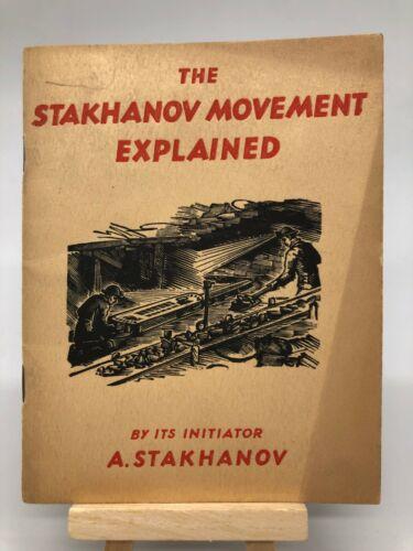 Stakhanov Movement Explained USSR Soviet Propaganda 1939 Worlds Fair NY Booklet