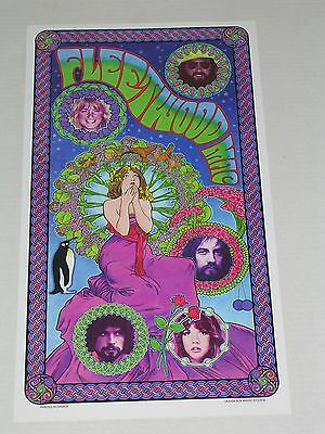 Fleetwood Mac Rock Concert Poster By Bob Masse