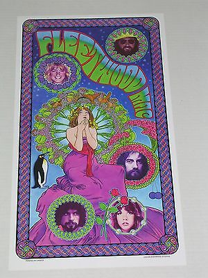 Fleetwood Mac Rock Concert Poster By Bob Masse