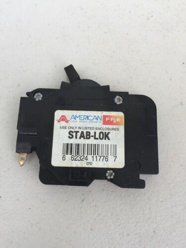 AMERICAN / FPE NC120 20 AMP 1-POLE TYPE NC STAB-LOCK THIN SKINNY FUSE BREAKER