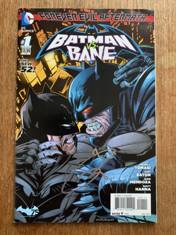 Tom Hardy Signed Batman vs. Bane Comic Book Dark Knight Rises