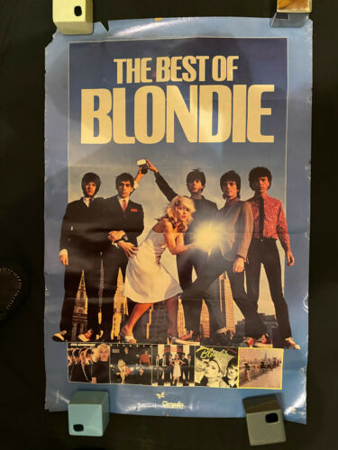 The Best of Blondie rolled USA promo poster AS IS damage 1981