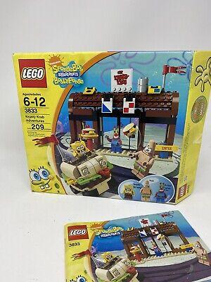 LEGO Spongebob Squarepants Krusty Krab Adventure 3833 Used w/Box, Pcs Missing