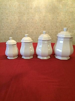 Made in Italy, 4 PC Deluxe Canister Set, Ceramic, Simply Beautiful