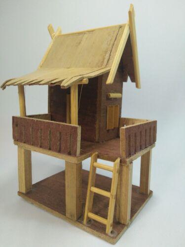 House Thai Wood Handmade Small Wooden Size Mini Large Home Decor