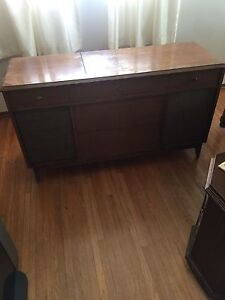 Antique turn table and radio