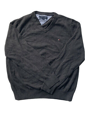 Mens Dark Grey Tommy Hilfiger Sweater Medium 9/10 Condition FREE SHIPPING!