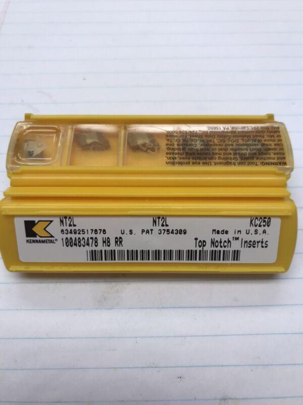 5 pcs.  NT2L KC250 KENNAMETAL INSERT (loc Q7)