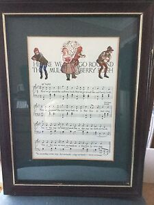 Framed Children's Nursery Songs/Rhymes