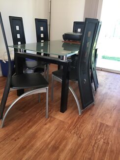 Dining table with six seat