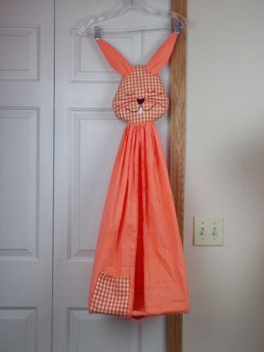 "Vintage Diaper Stacker Orange Bunny Rabbit 35"" Baby"