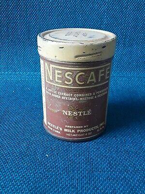 Vintage Nestle NESCAFE Coffee Tin 4oz Can