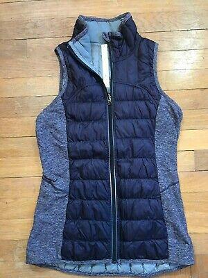 Lululemon Down For it All Purple Insulated Puffy Full Zip Running Yoga Vest 6