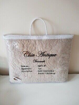 chic antique cream quilt stonewashed powder 180 x 130 cm