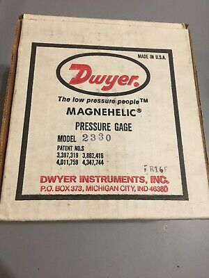 Dwyer 2330 Magnehelic Differential Pressure Gauge 15-0-15 New