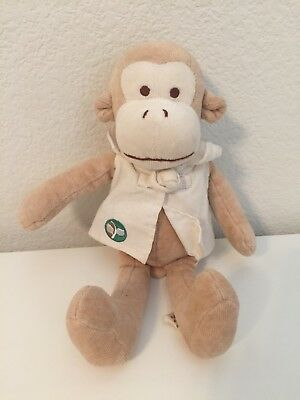 "My Natural MONKEY Shirt 10"" Plush Stuffed Baby Toy"
