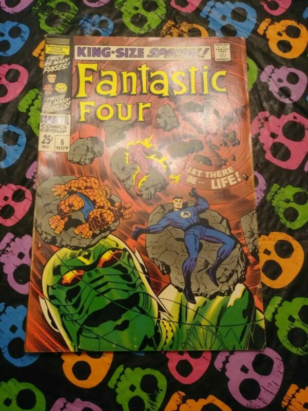 1962 FANTASTIC FOUR ANNUAL ISSUE #6 COMIC BOOK COMPLETE
