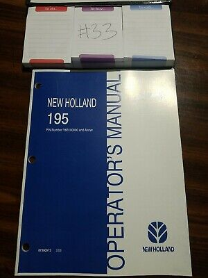 New Holland Operators Manual Manure Spreader 195 87390573 022006