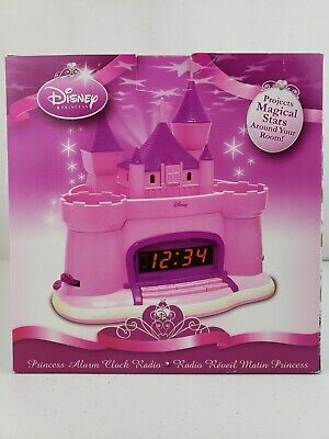 Disney Castle Princess Alarm Clock Radio Projects Stars, w/ ALL 3 FLAGS AND BOX!