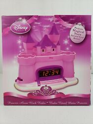 Disney Castle Princess Alarm Clock Radio Projects Stars, w/ ALL 3 FLAGS AND BOX!
