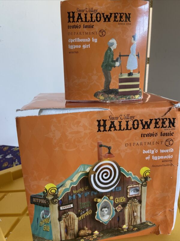 Department 56 Halloween Dolly's World Of Hypnosis & Hypno Girl Accessory