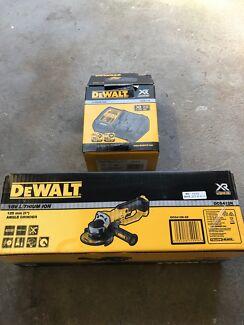 Dewalt 18v angle grinder and single port 18v battery charger