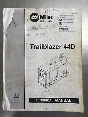Tm455a Miller Trailblazer 44d Technical Manual