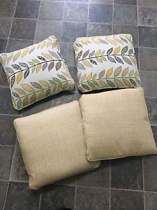 4 large couche pillows (new)