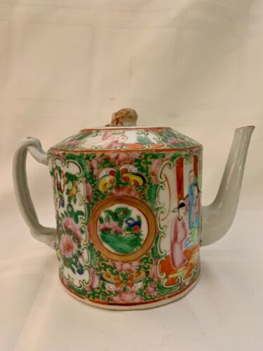 FINE EARLY CHINESE ROSE MEDALLION TEAPOT CIRCA 1860........MINT