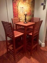 Timber tall bar table and stools indoor outdoor patio dining NEW Horsley Park Fairfield Area Preview