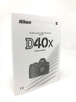 Nikon D40x Genuine Instruction Owners Manual D40x Book Original NEW