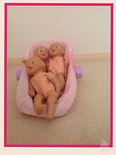 3 X Baby Born Dolls plus carrier in perfect condition Harrison Gungahlin Area Preview